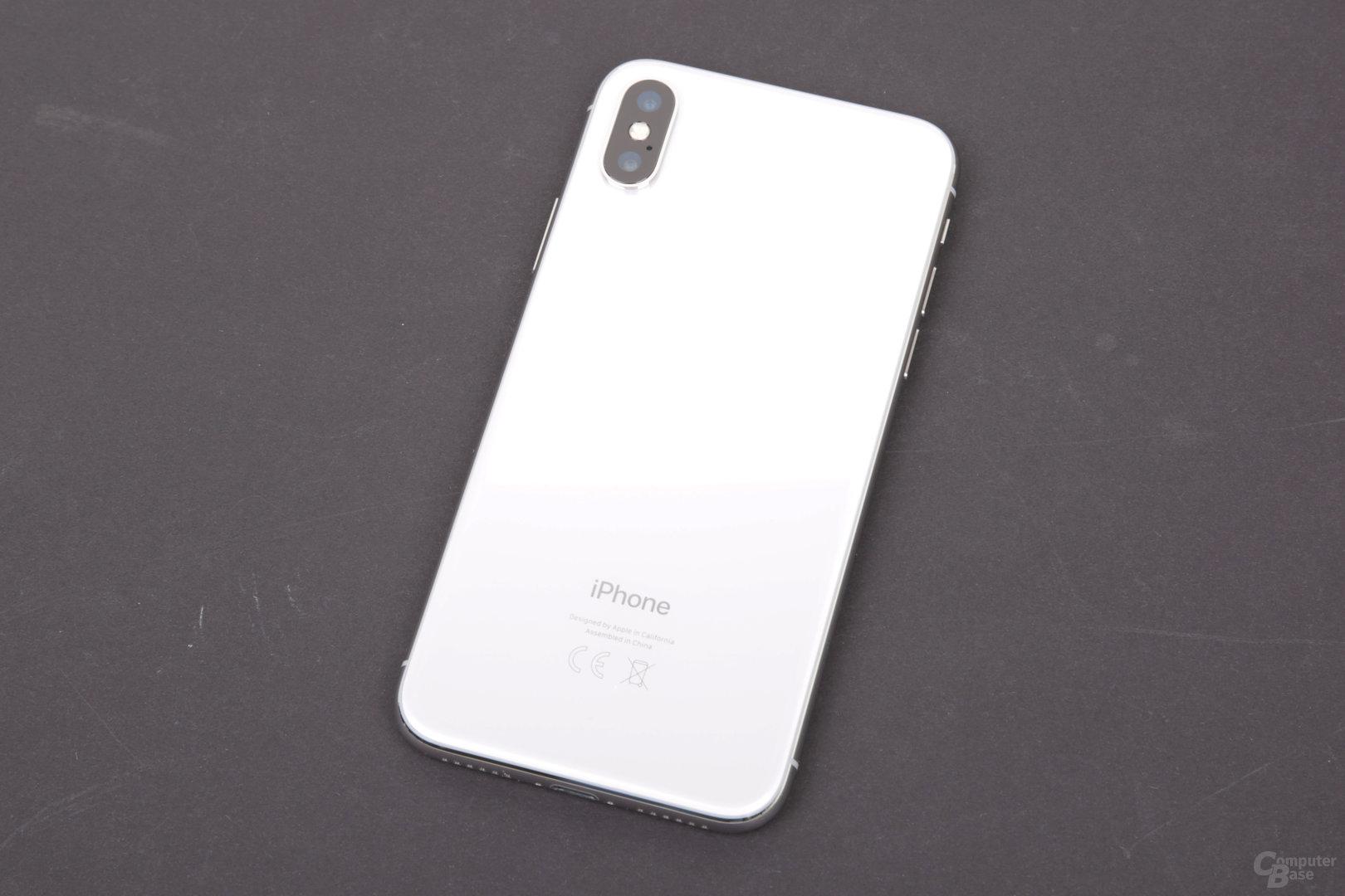 Apple iPhone X mit Glasrückseite