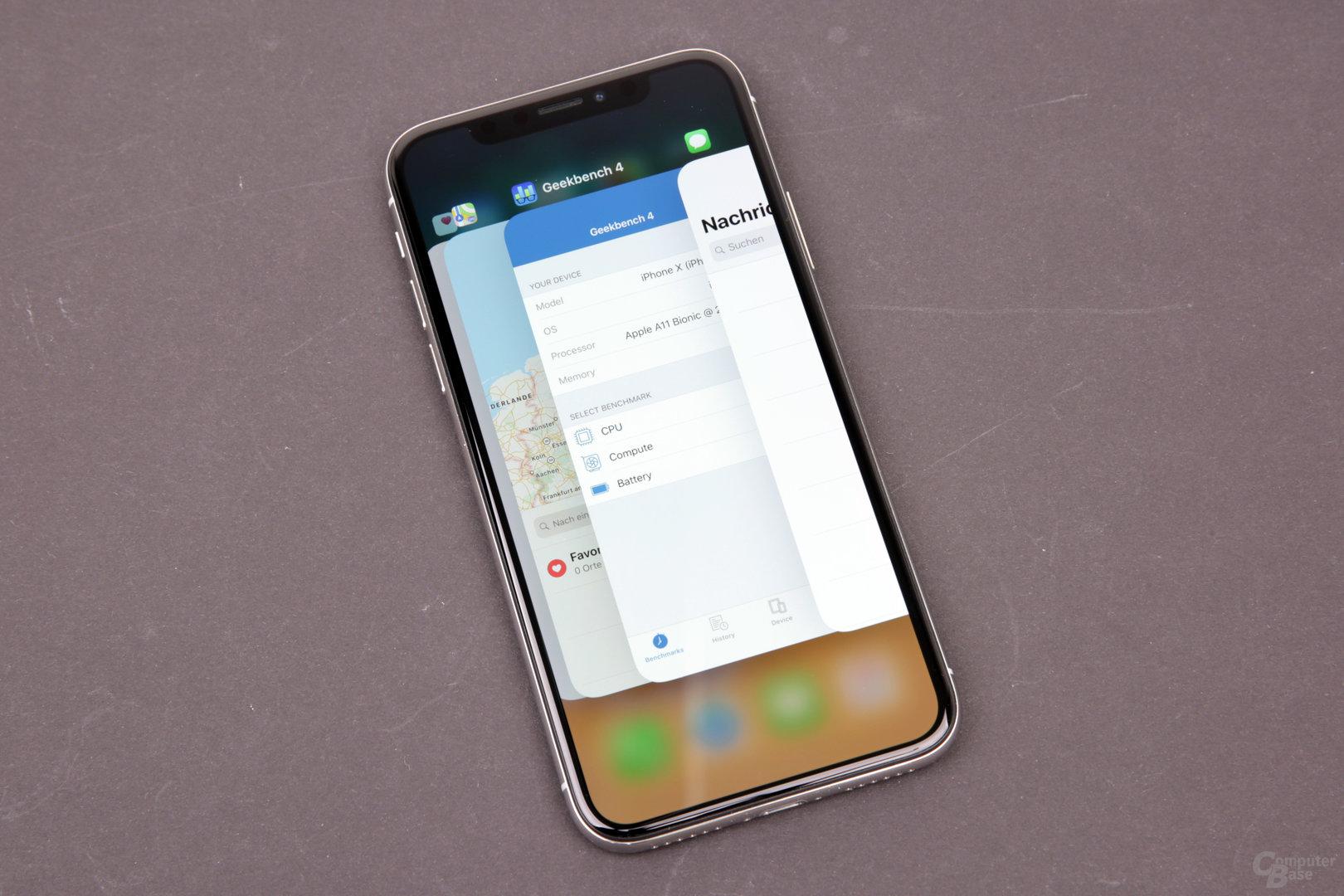 Apple iPhone X – Der App-Switcher
