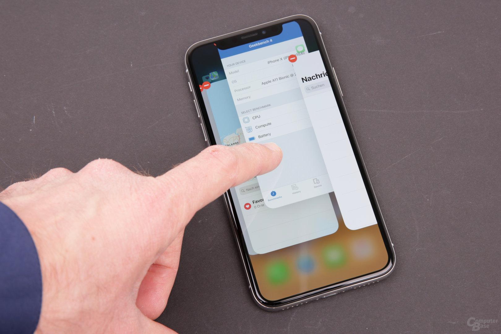 Apple iPhone X – Apps im Hintergrund