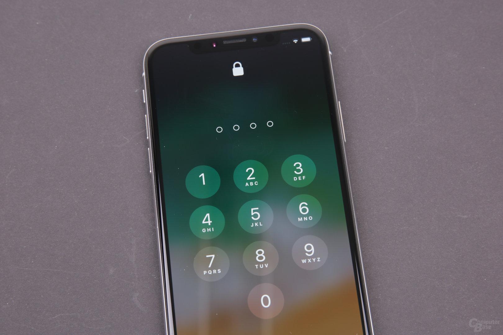 Apple iPhone X – PIN als Alternative zu Face ID