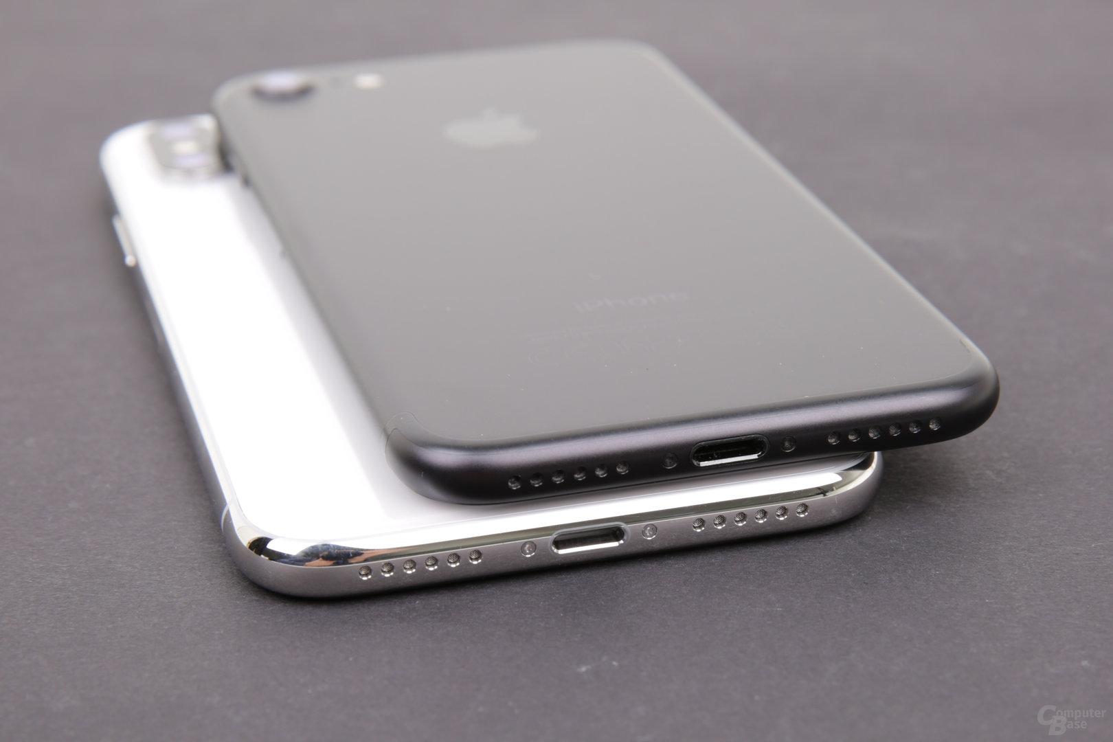 Apple iPhone X und iPhone 7