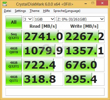 Intel Optane 900P mit komprimierbaren Daten (0fill)
