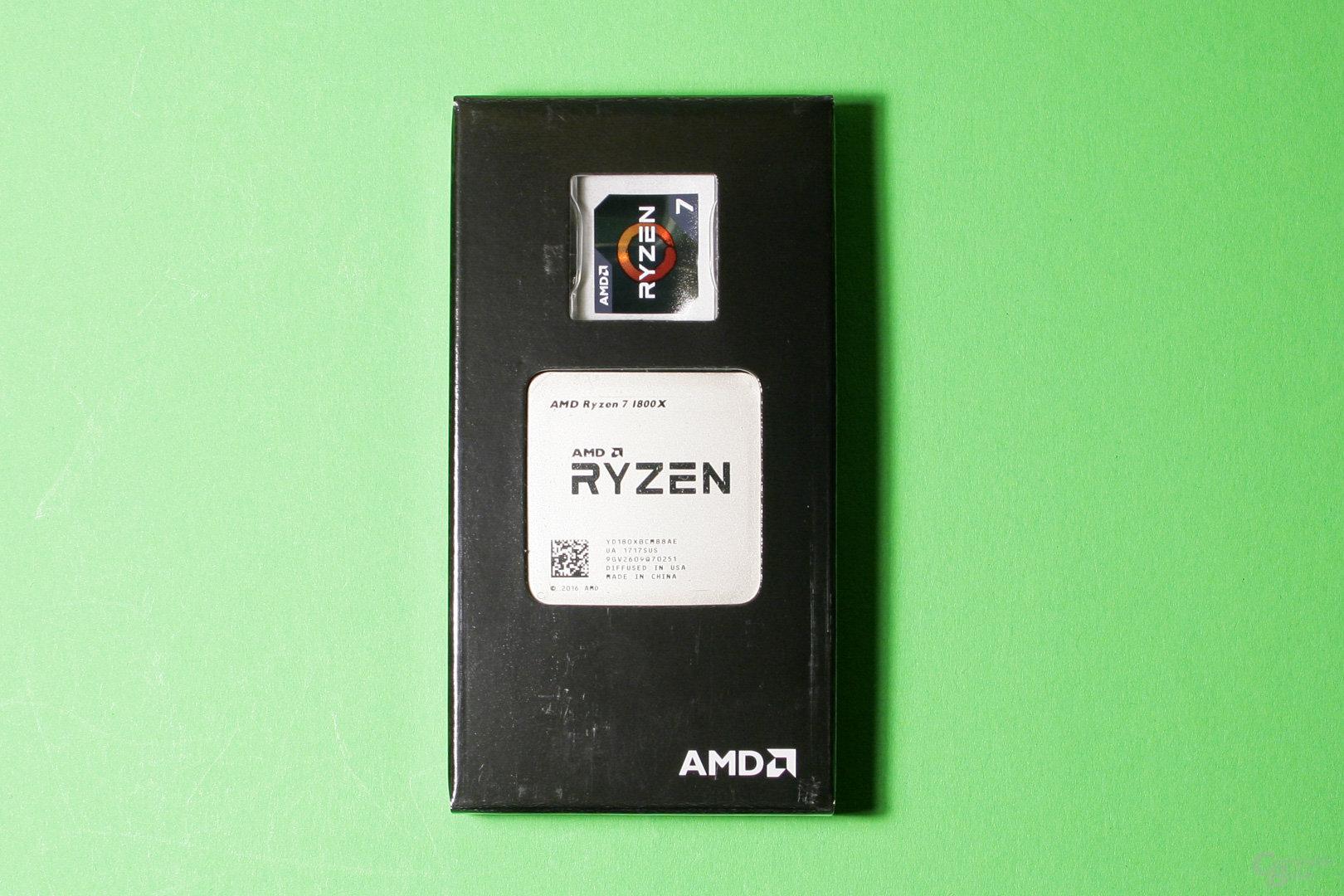 Der AMD Ryzen 7 1800X in seiner schützenden Verpackung