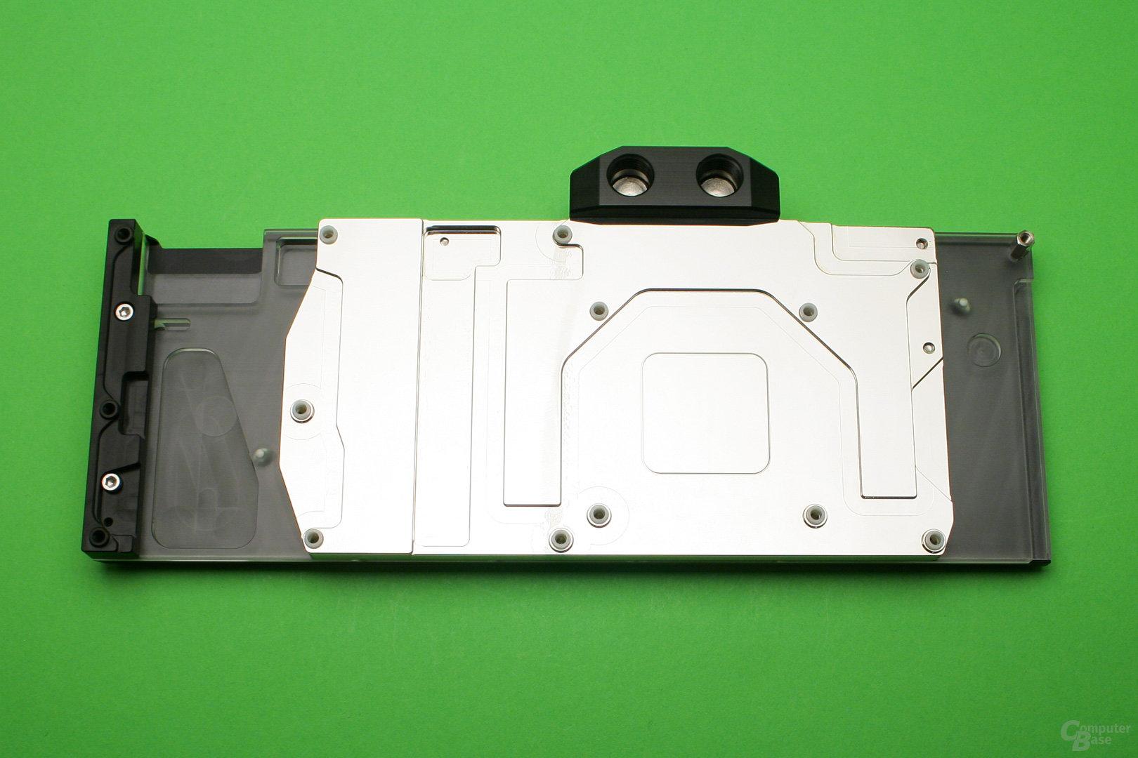 Der Fullcover-Wasserkühler von Watercool für die GeForce GTX 1080 Ti