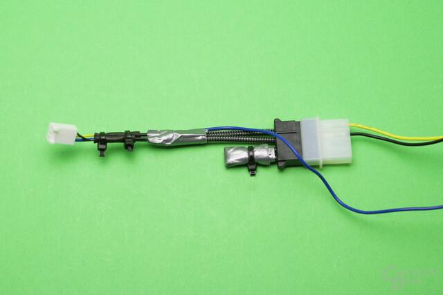 Die Steuerung der Pumpe per Aquaero verlangt nach Improvisation