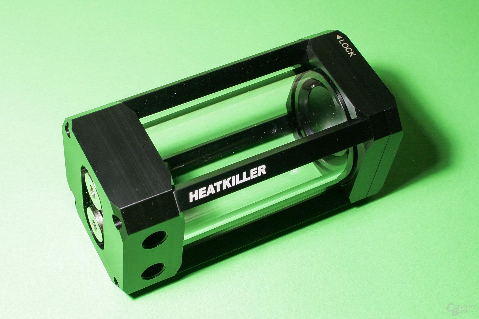 Watercool stellt den Heatkiller Tube als Ausgleichsbehälter zur Verfügung