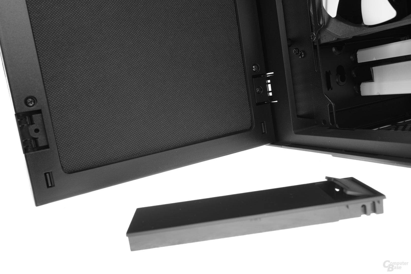 Fractal Design Define R6 – Der Anschlag der Tür ist wechselbar
