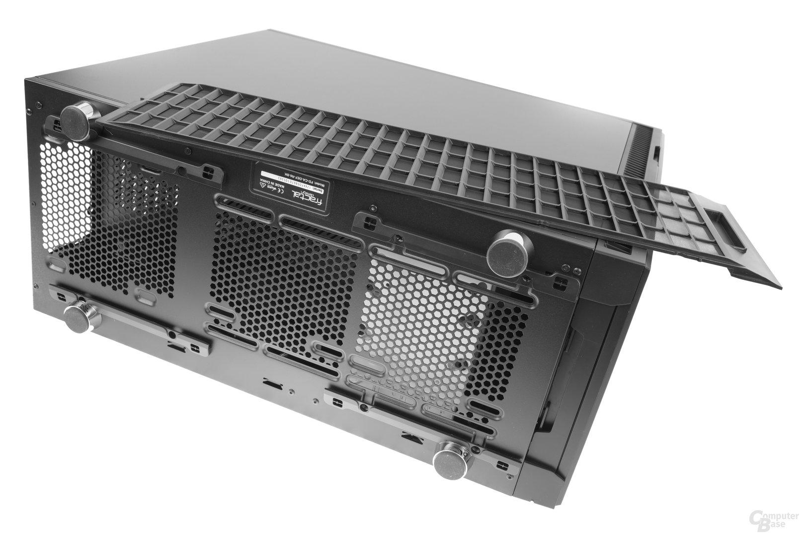 Fractal Design Define R6 – Staubfilter entnommen