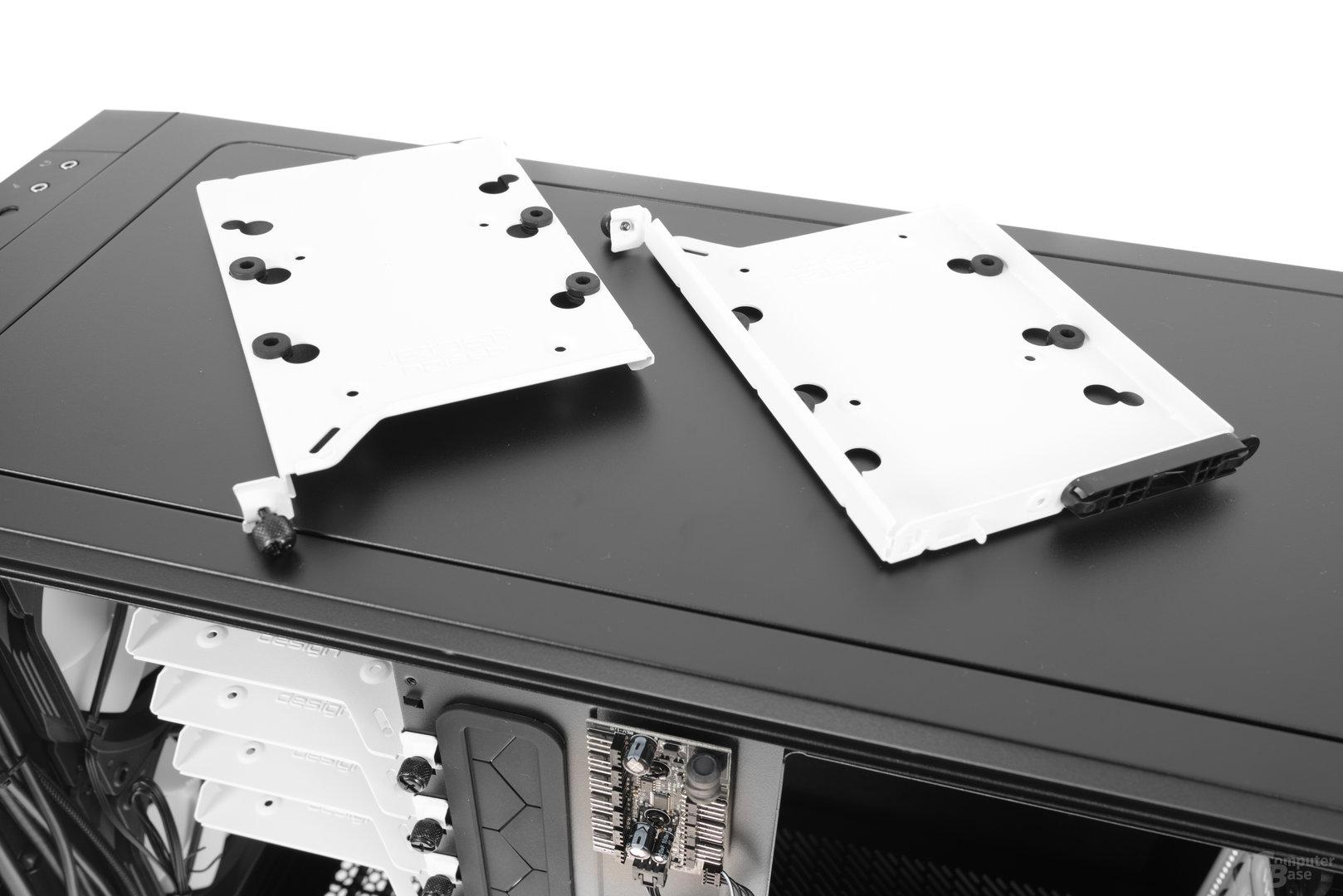 Fractal Design Define R6 – Festplattenschienen im Detail