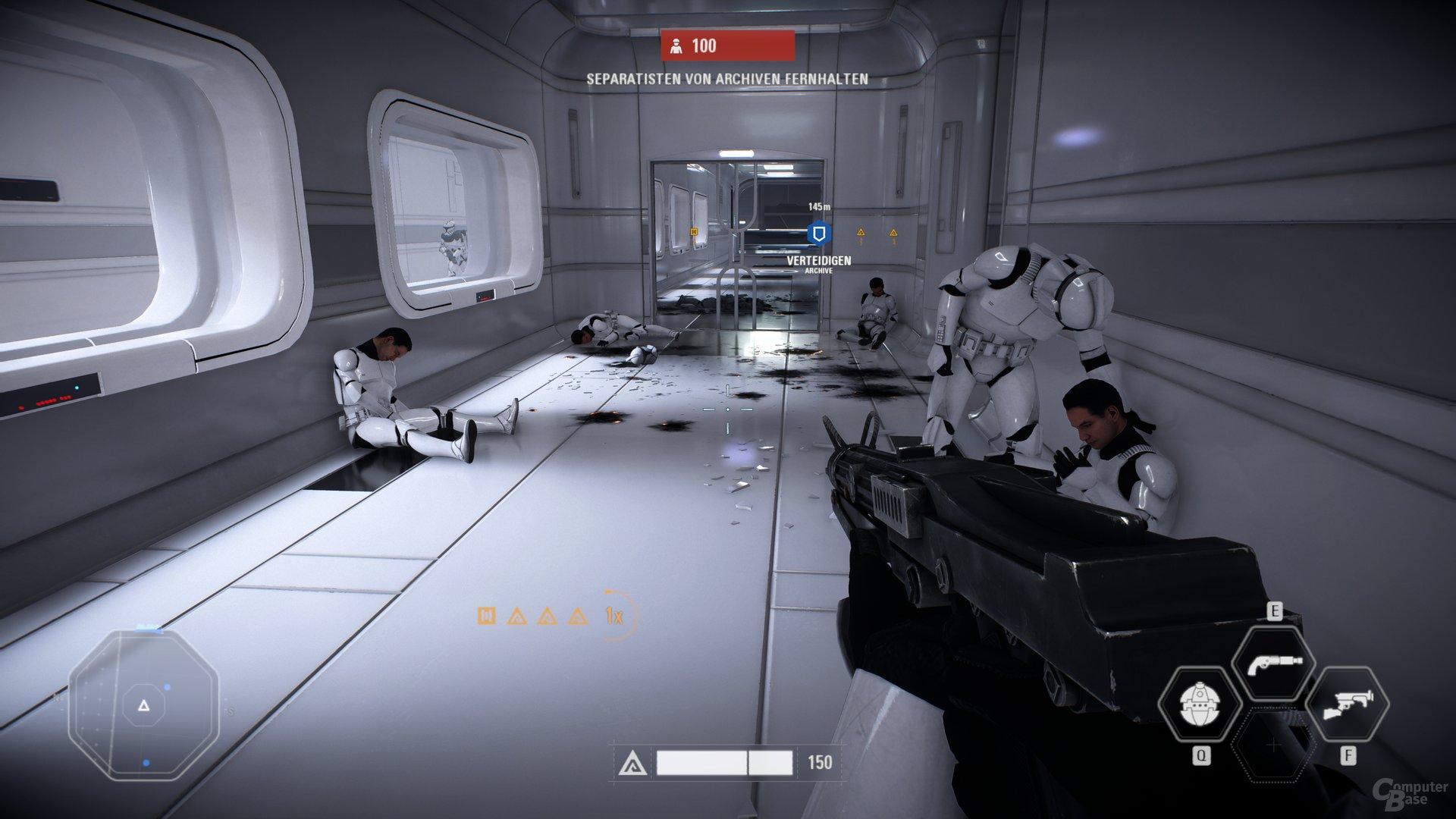 Der Unterbau unterhält wie der Vorgänger durch Star-Wars-Atmosphäre