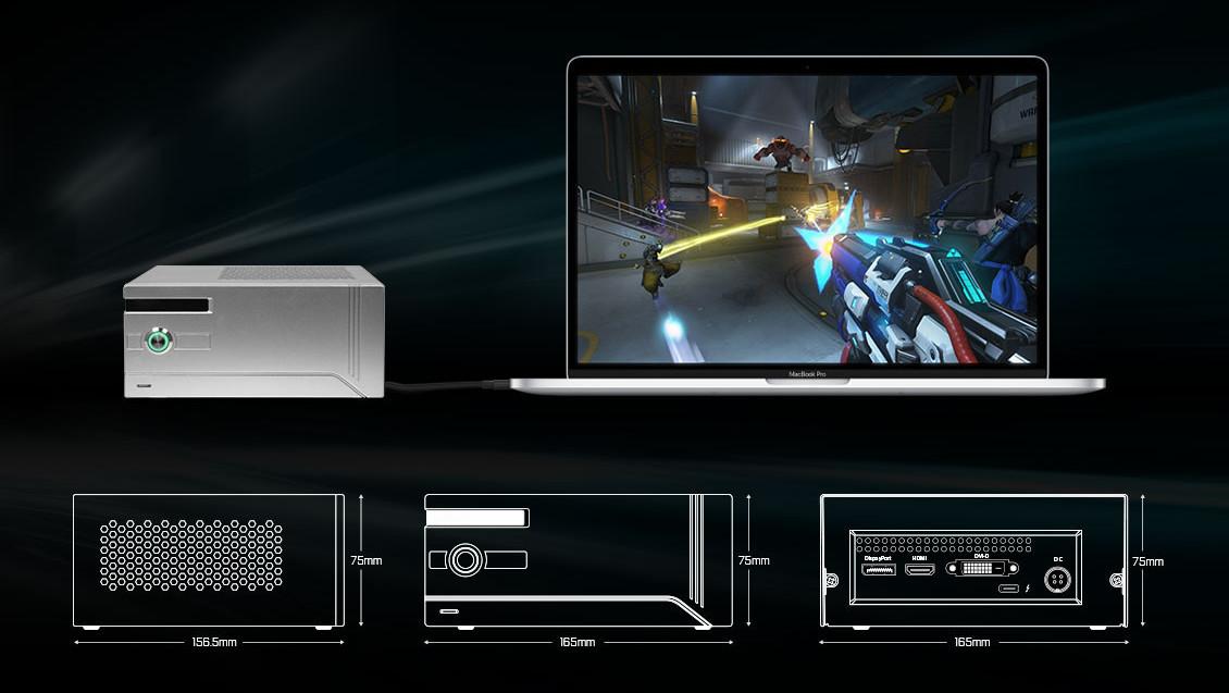 Gehäuse für eGPUs: KFA2s externe GeForce GTX 1060 kostet 499 Euro