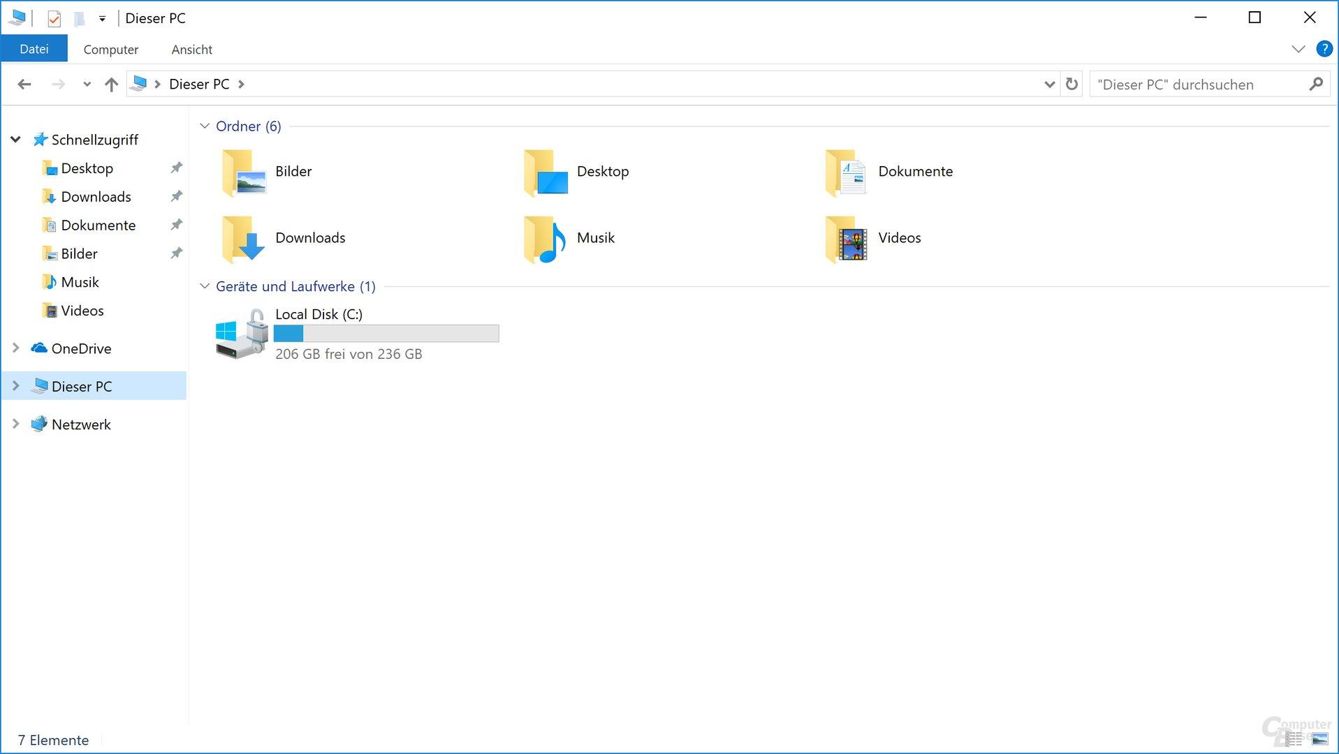 Freier Speicherplatz ab Werk (256-GB-Variante)