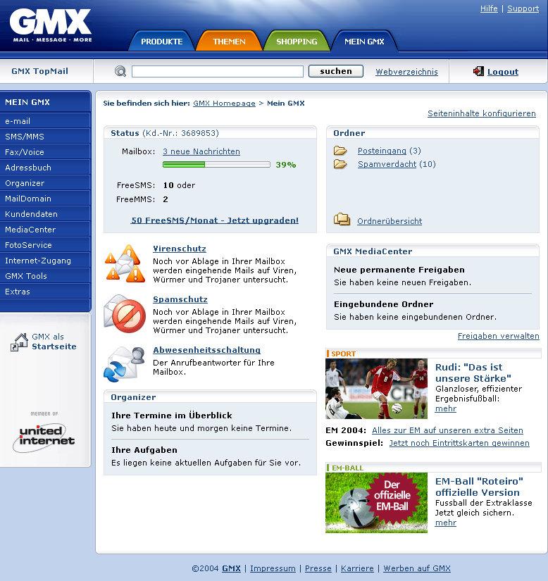 GMX E-Mail-Service