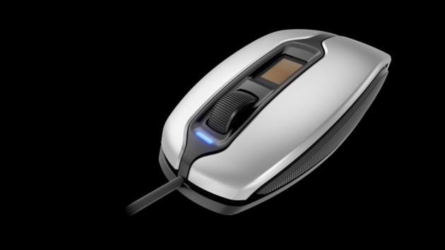 Cherry MC 4900: Maus mit Fingerabdrucksensor für Links- und Rechtshänder