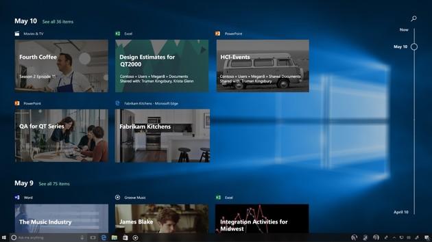 Windows 10 Build 17063: Mutige Insider testen Timeline, aber nur einige auch Sets