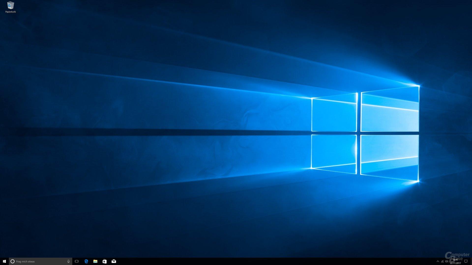 Der Windows-Desktop nach dem 1. Start