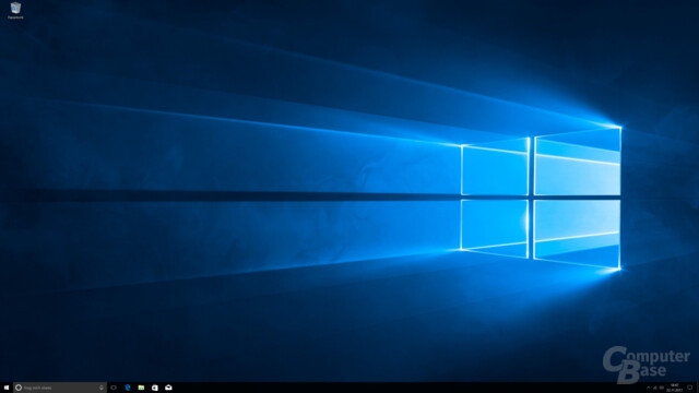 Der Windows-Desktop nach dem 1. Start