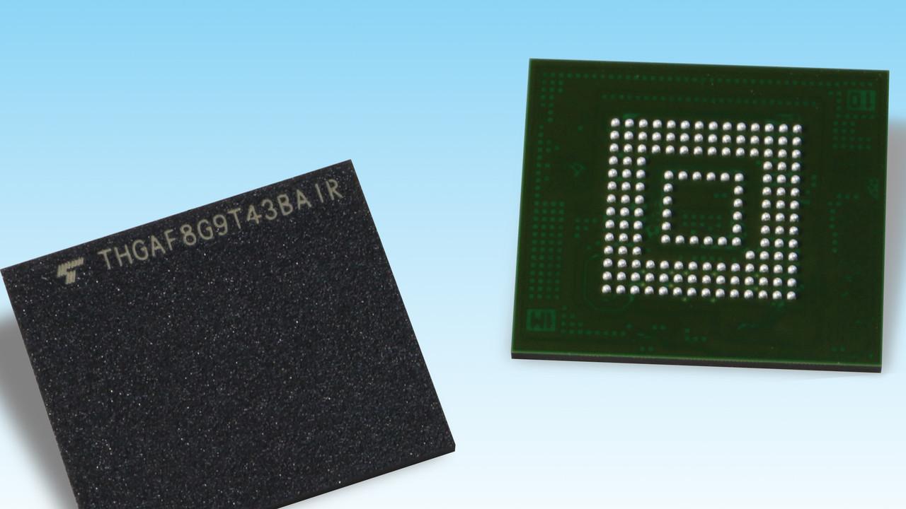 Universal Flash Storage: Toshibas UFS-2.1-Chips nun mit bis zu 256 GB BiCS3-Flash