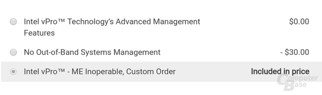 Dell Konfigurationsdialog