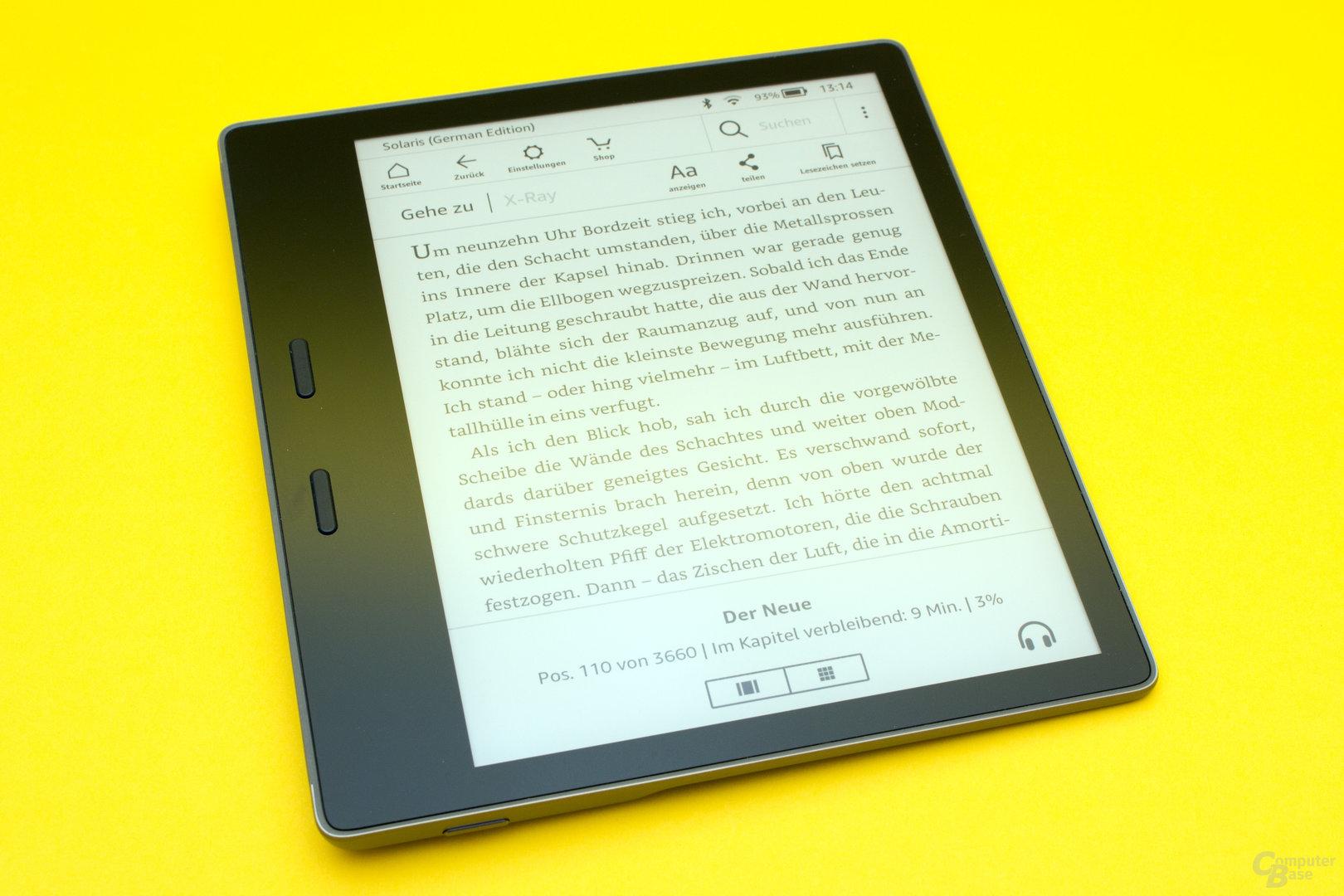 Kindle Oasis 2 mit erstklassiker Darstellung