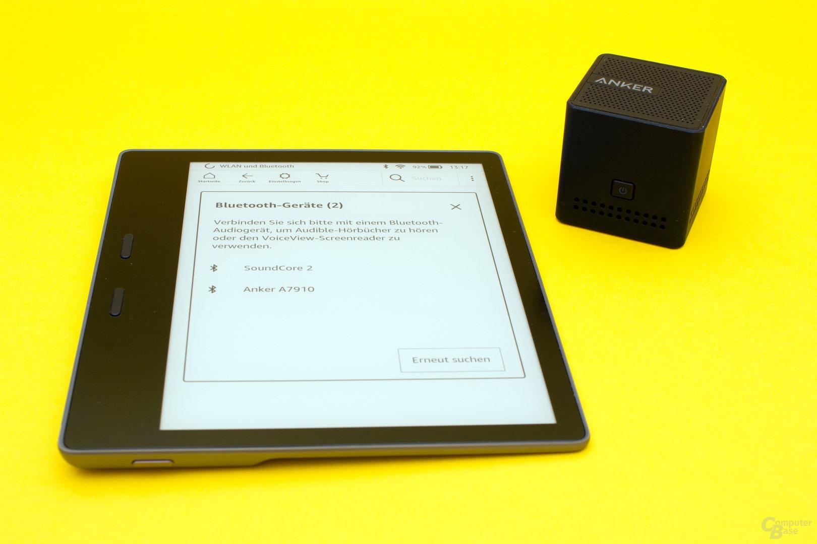 Leichte Bluetooth-Kopplung zur Nutzung der Audible-Integration