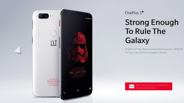 OnePlus: Star-Wars-Edition des 5T vorgestellt