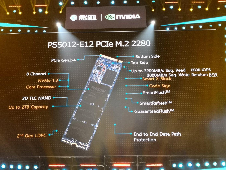 PS5012-E12 mit PCIe für M.2-SSDs
