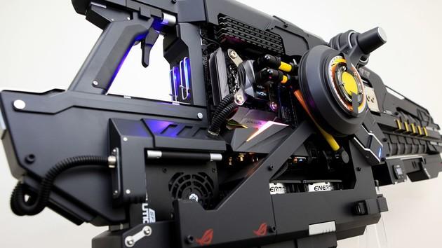 Aus der Community: Ein PC in Form einer futuristischen Waffe