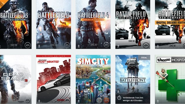 EA Origin: 30 Prozent Rabatt auf gesamten Einkauf