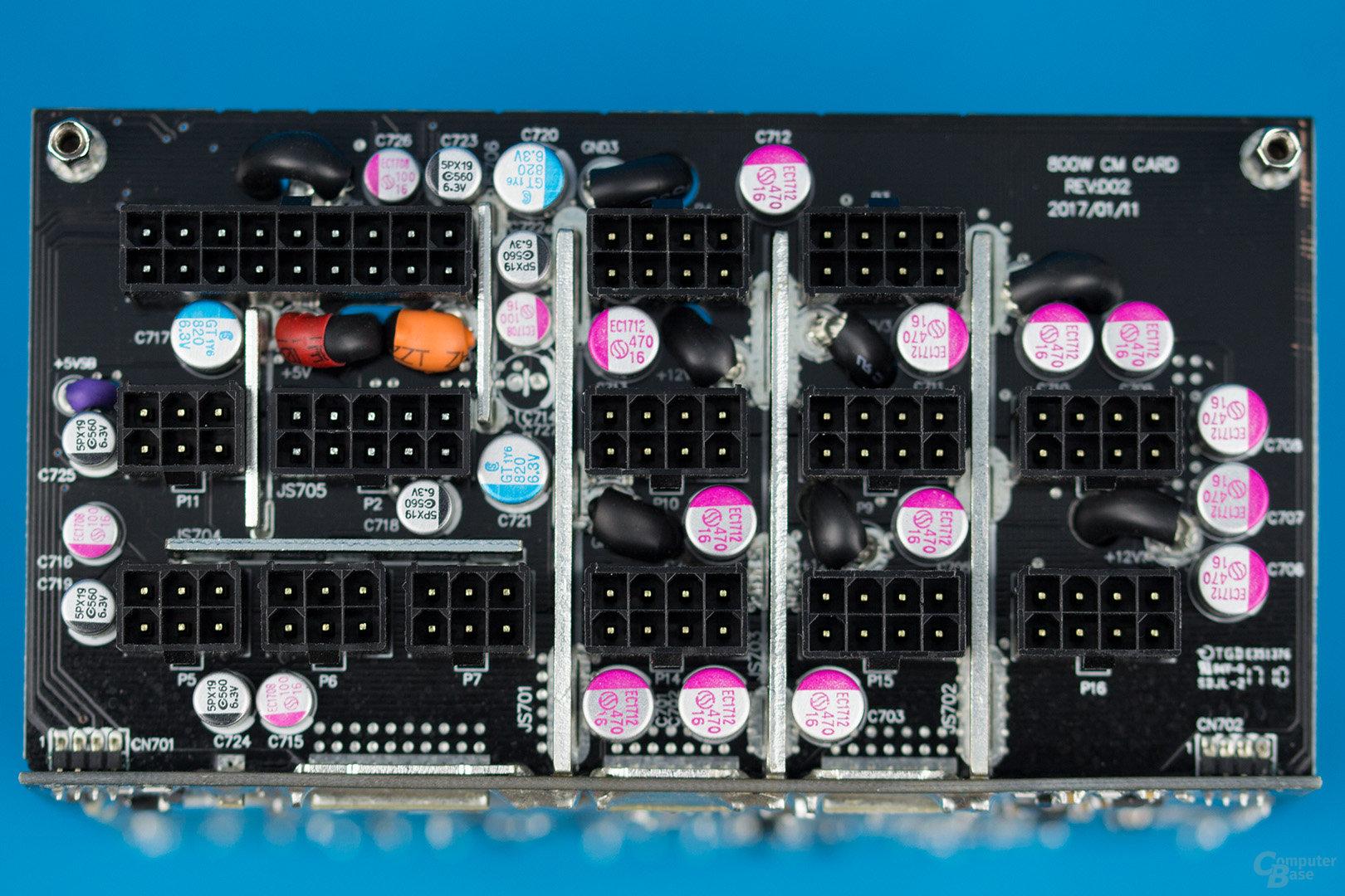 Enermax MaxTytan 800W – Kabelmanagement-Platine