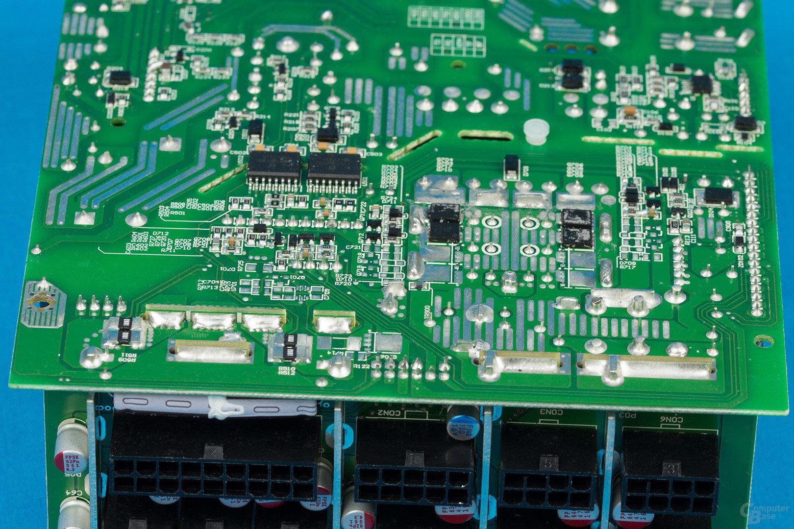 Sea Sonic Prime Platinum 850W – Lötqualität (Sekundärseite)