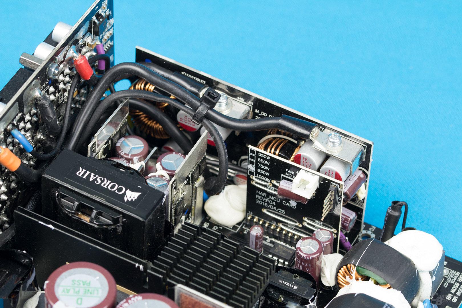 Corsair HX850 – Sekundärseite