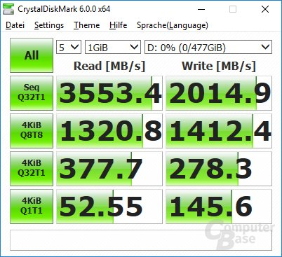 CrystalDiskMark auf Ryzen 7 1800X (Win 10): Windows-Update