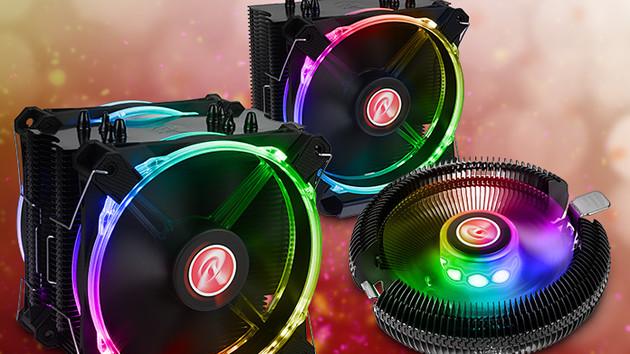 Raijintek Leto (Pro) & Juno-X: Drei Kühler erhalten buntes Licht