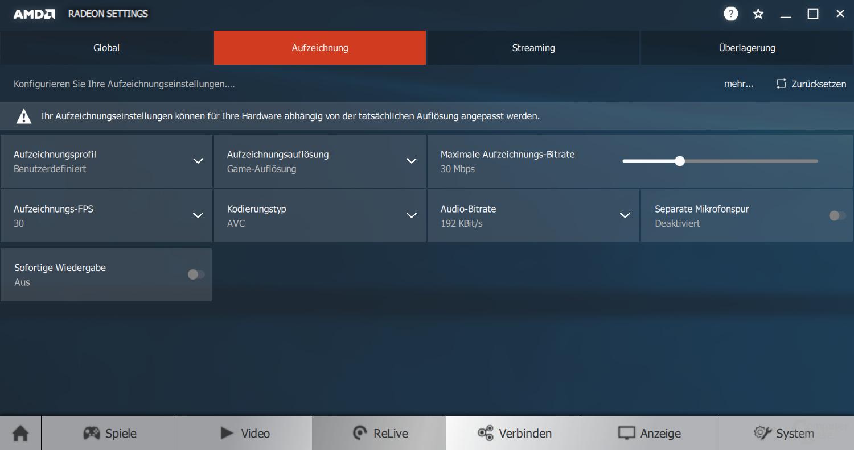 AMD Adrenalin – ReLive