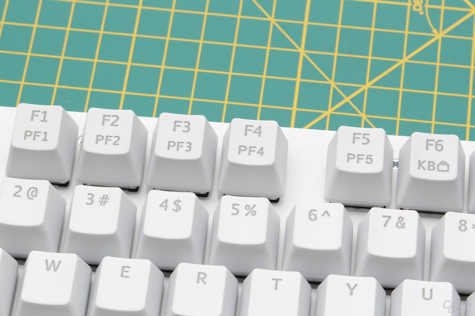 Auswahl der fünf Profile und vollständige Tastensperre