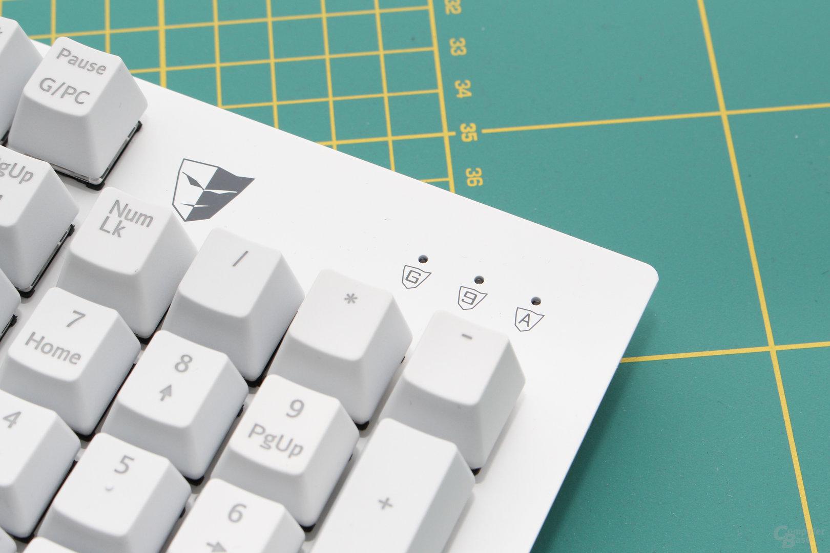 Status-LED für Spielemodus, Nummernblock und Capslock