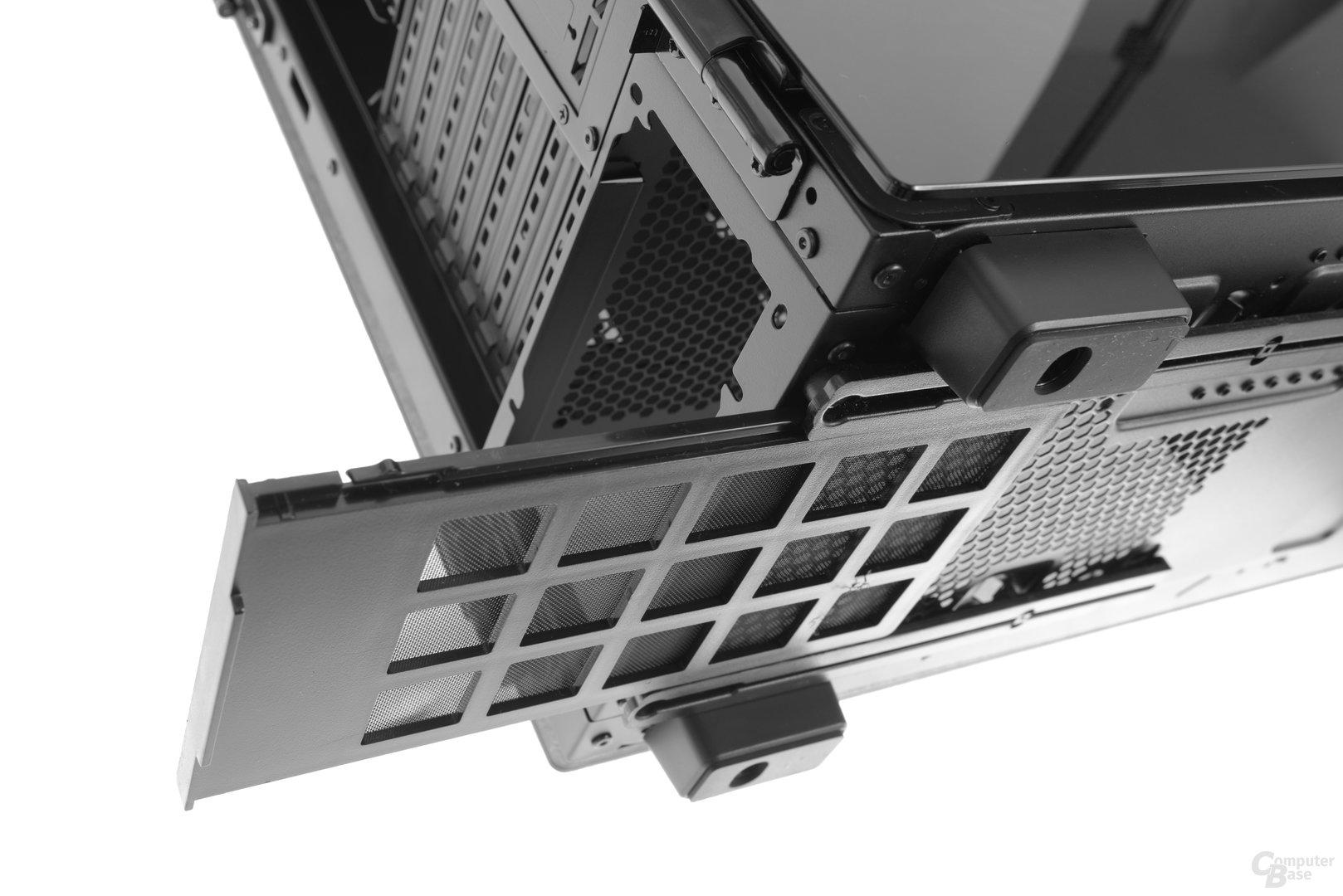 Corsair Obsidian 500D – Das Netzteil hat einen eigenen Staubfilter