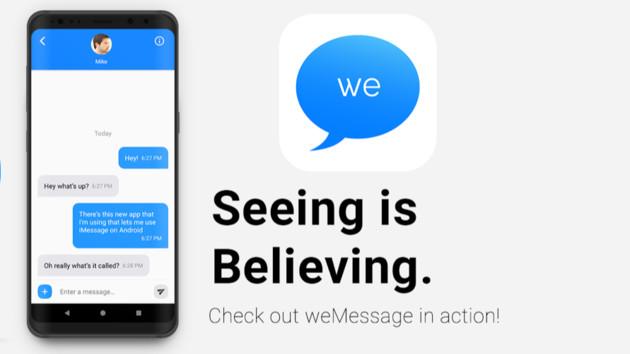 weMessage: iMessage auch auf Android über Relay-Server nutzen