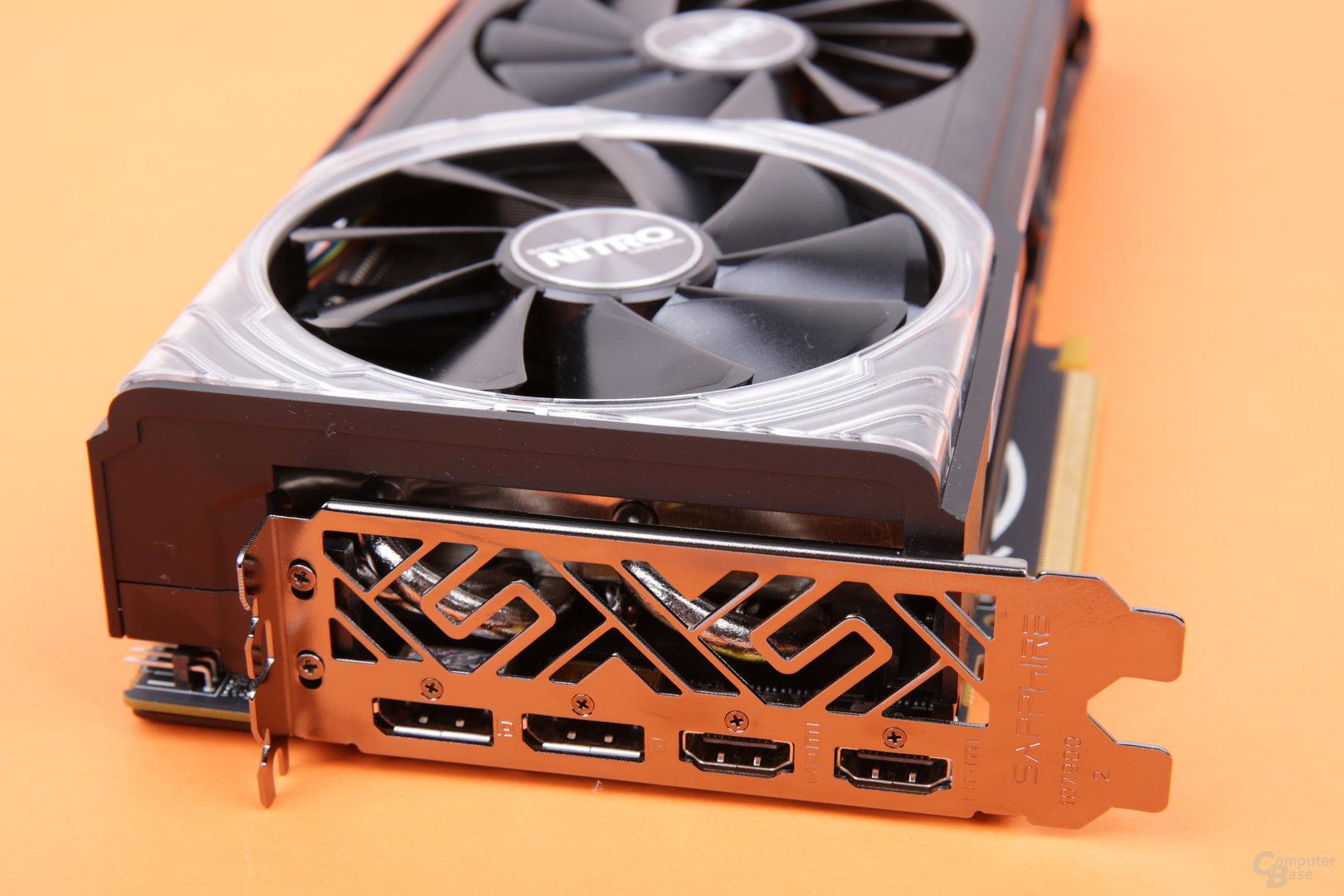Sapphire Radeon RX Vega 56 Nitro+ – Monitoranschlüsse