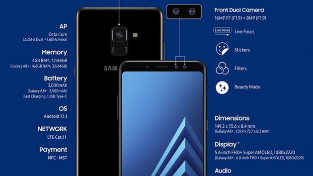 Samsung Galaxy A8 und A8+: Neue Mittelklasse mit Infinity Display nicht für Deutschland