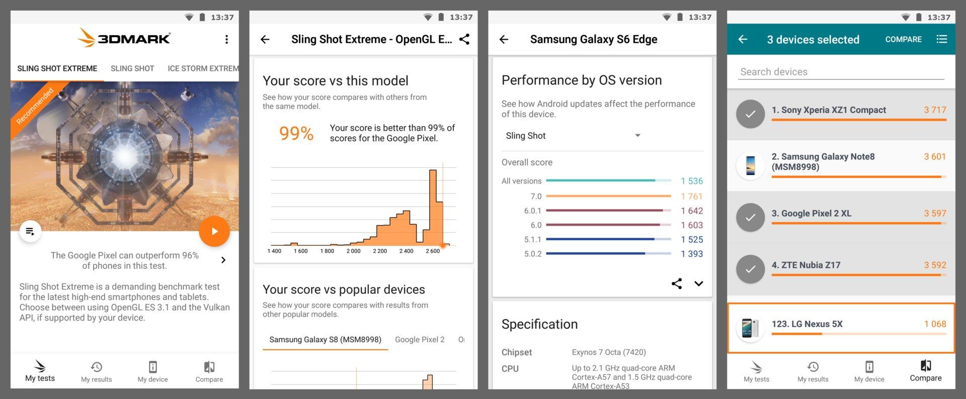 Neues Design der 3DMark-App