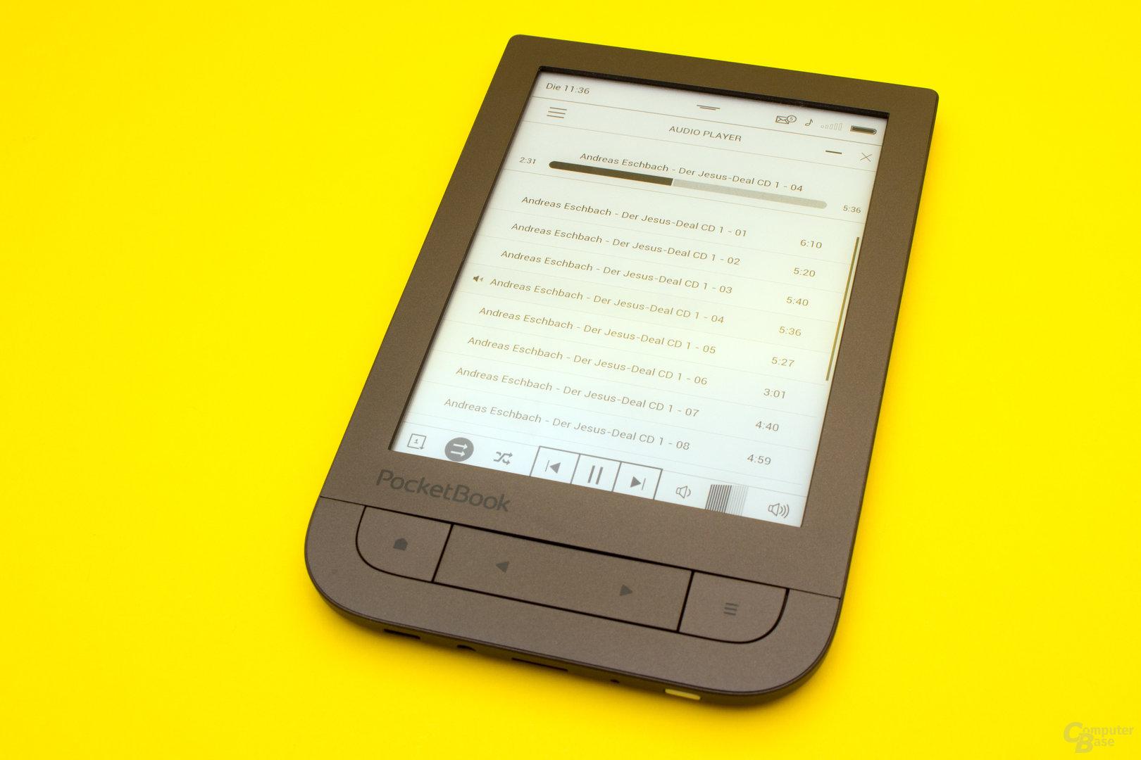 Über den Audioplayer lassen sich entspannt Hörbücher hören