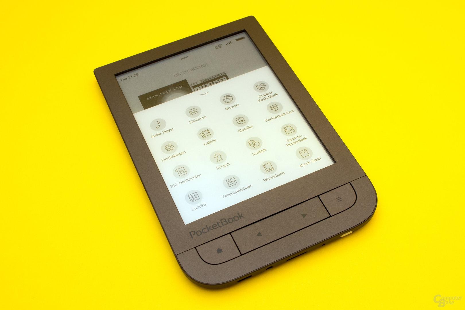 Viele zusätzliche Tools beim PocketBook Touch HD 2