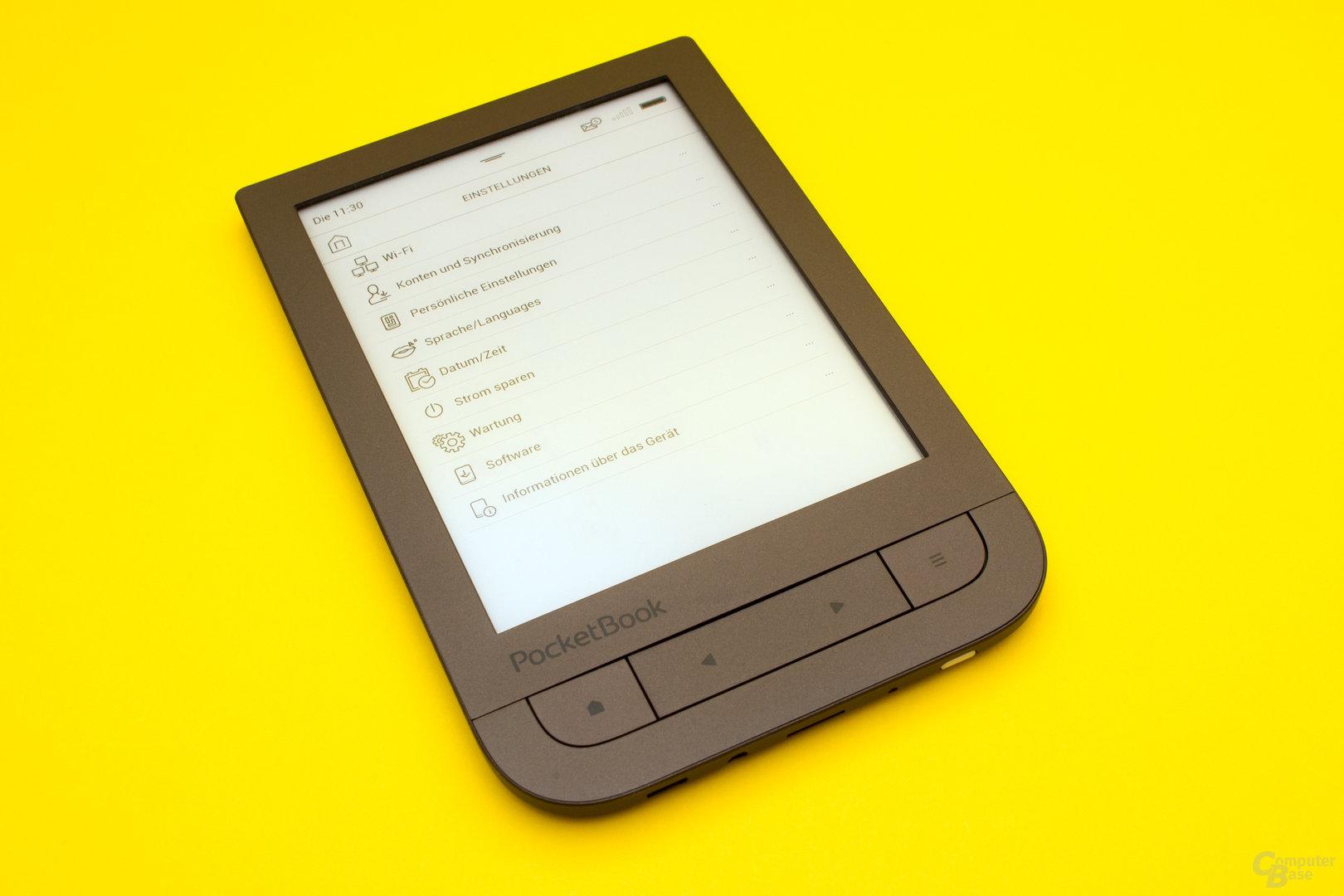 Viele Anpassungsmöglichkeiten beim PocketBook Touch HD 2