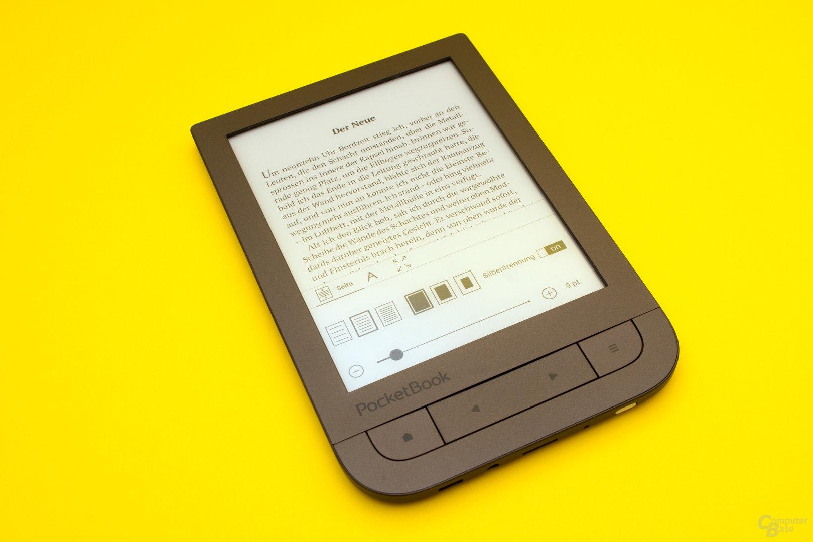 Solide Texteinstellungen beim neuen PocketBook-Reader