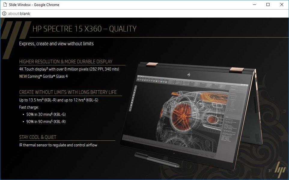 HP Spectre 15 x360 – Display und Akku