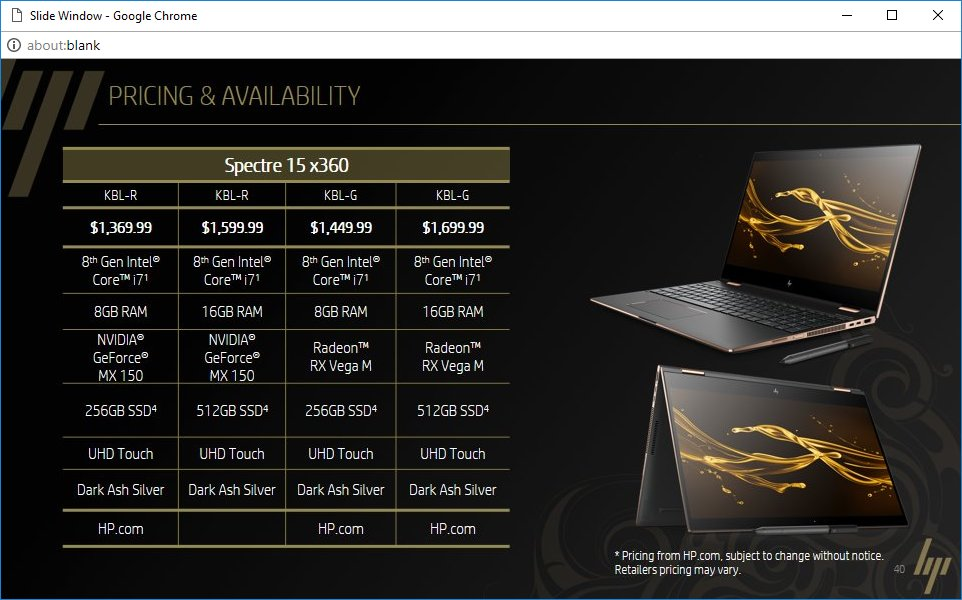 HP Spectre 15 x360 – Modellübersicht