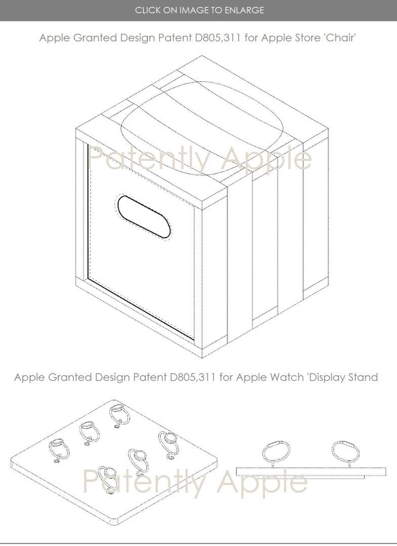 Design-Patent für Apple Store Chair