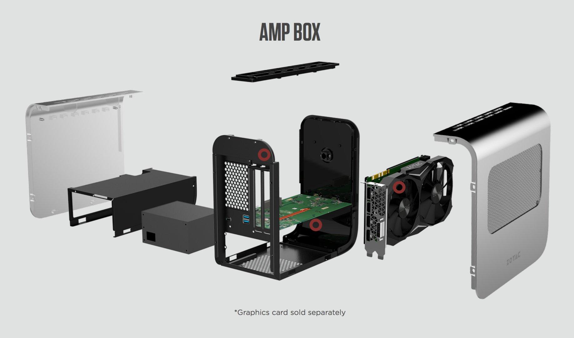 Explosionsmodell Zotac Zbox AMP